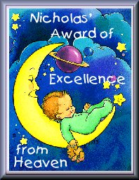 Nick's Award of Excellence from Heaven