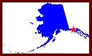 Location of Yakutat, Alaska